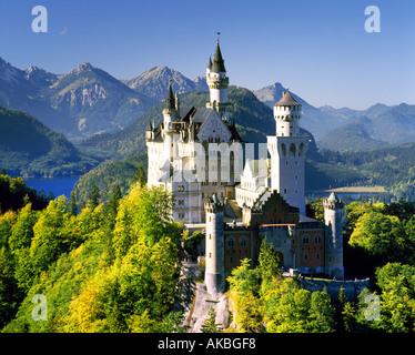 DE - BAVARIA: Neuschwanstein Castle - Stock Photo