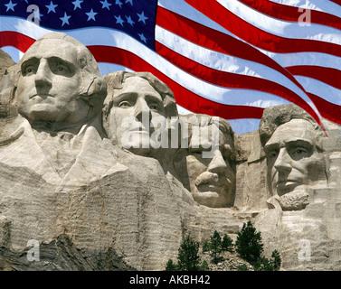 USA - SOUTH DAKOTA: Mount Rushmore National Monument - Stock Photo