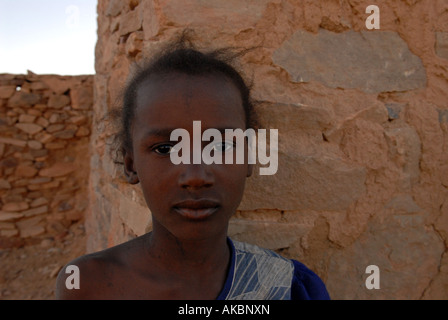 Girl Adrar region Mauritania - Stock Photo