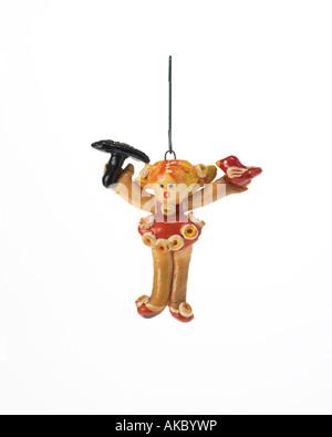 baubles christmas xmas ornament cookie girl acrobat - Stock Photo