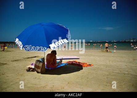 Socoa Beach St Jean de Luz Pays Basque South West France Europe - Stock Photo