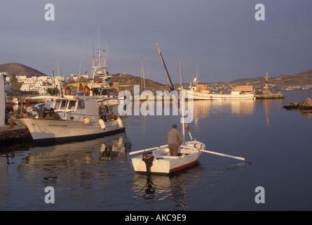 AJ18115, Paros, Greece, Greek Islands, Naoussa, Cyclades, Europe - Stock Photo