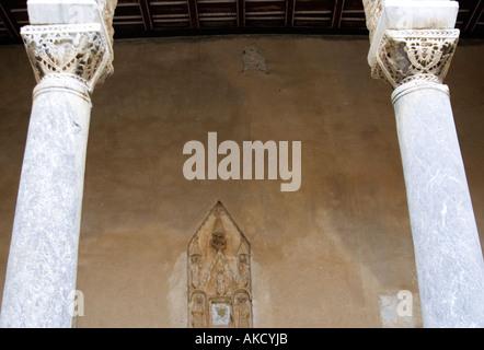 South-East Europe, Croatia, Porec, marble columns, low angle view - Stock Photo