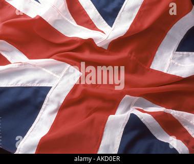 British Union Jack flag taken in studio setting - Stock Photo