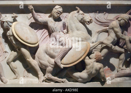 Alexander Sarcophagus Archaelogical Museum Istanbul Turkey - Stock Photo
