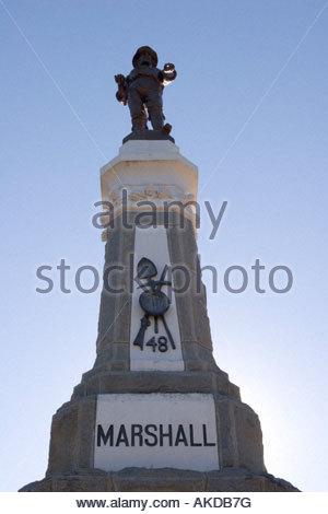 James Marshall Monument Marshall Gold Discovery SHP Coloma California - Stock Photo