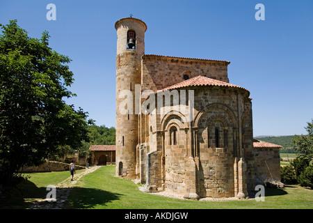collegiate church of san martin de elines cantabria spain - Stock Photo