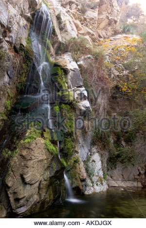 Sturtevant Falls San Gabriel Mountains California - Stock Photo