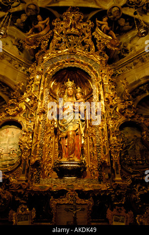 Seville Cathedral - Virgin Mary With The Infant, Spain - Stock Photo