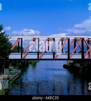 Barton Swing Aqueduct, Trafford Park, Barton-upon-Irwell, Greater Manchester, England, UK. - Stock Photo