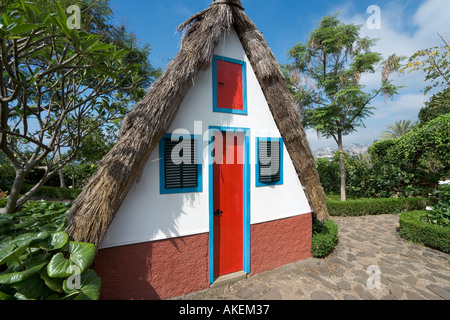 Santana Style House, Botanical Gardens, Funchal, Madeira, Portugal - Stock Photo
