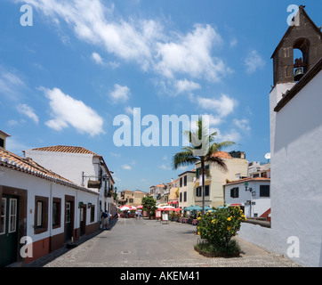 Street in the Old Town (Zona Velha), Funchal, Madeira, Portugal - Stock Photo
