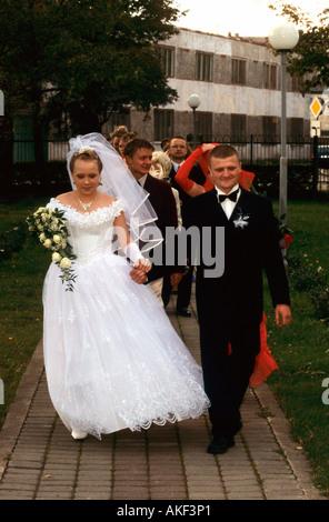 Lettland, Ventspils, russisch-orthodoxe Kirche, Hochzeit - Stock Photo
