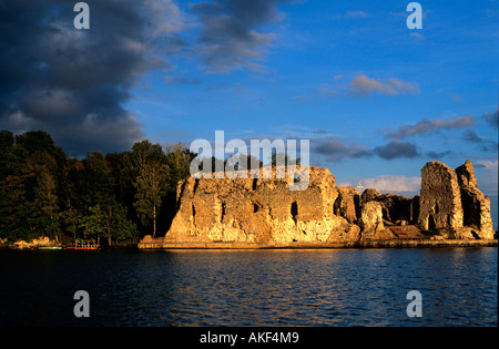 Lettland, Koknese an der Daugava, Ordensburg - Stock Photo