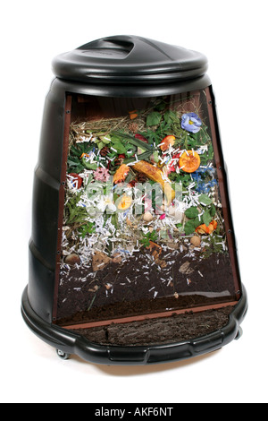 compost bin inside section - Stock Photo