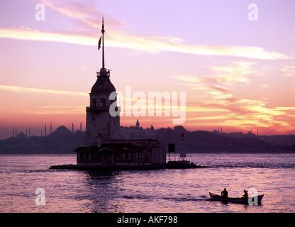 Bosphorus Maiden's Tower - Stock Photo