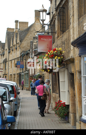 Shopping Chipping Campden - Stock Photo