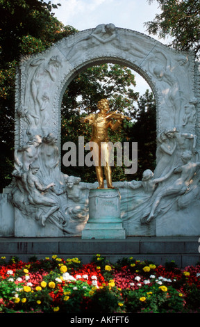 Wien 1, Stadtpark, Denkmal von Johann Strauss Sohn - Stock Photo