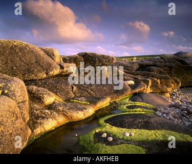 IE - CONNEMARA: Coastal Detail on Omey Island - Stock Photo