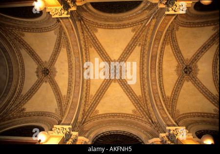 Österreich, Wien, Freyung, Palais Ferstel, Deckendetail in der Ferstelpassage zwischen Herrengasse und Freyung - Stock Photo