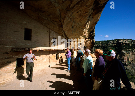 USA, Colorado, Mesa Verde Nationalpark, Balcony House - Stock Photo