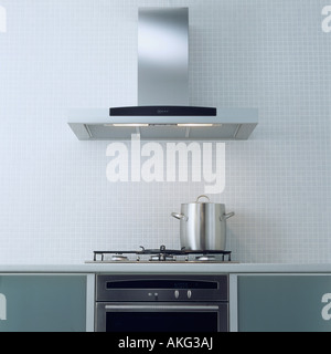 Modern Kitchen Extractor Fans extractor fan above oven hob open plan kitchen of provençal