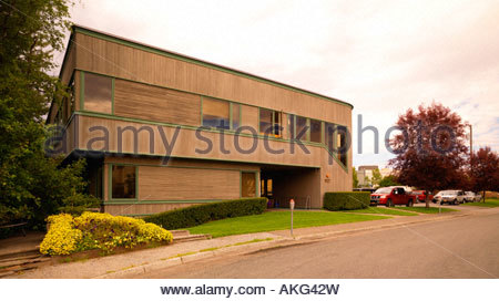 Office building in downtown Anchorage - Stock Photo