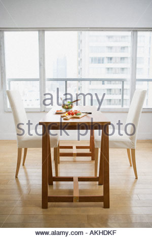 Salad on a dining table - Stock Photo