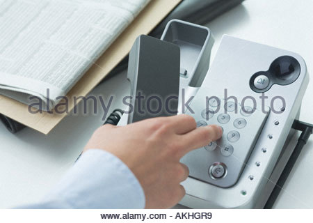 Man making a telephone call - Stock Photo