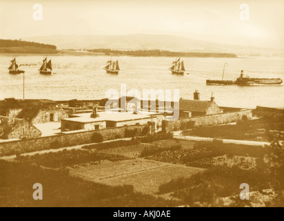 UK Scotland Fort Matilda Gourock and Firth of Clyde 1890 s - Stock Photo