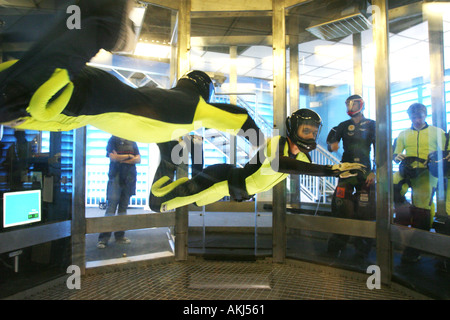 skyventure sky diving wind tunnel in orlando florida - Stock Photo