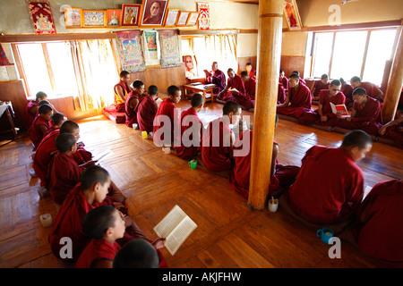 India, Jammu and Kashmir, Ladakh region, Nubra, Sumur Gompa (monastery) - Stock Photo