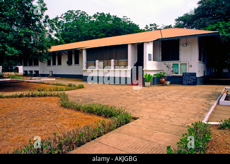 The house and grounds of  W.E.B. DuBois museum Accra Ghana - Stock Photo