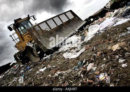 isle of wight UK Island Waste waste and rubbish disposal - Stock Photo