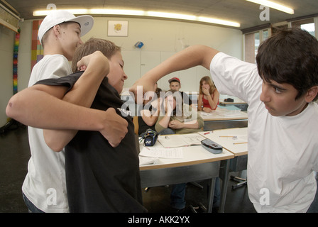fight between students - Stock Photo