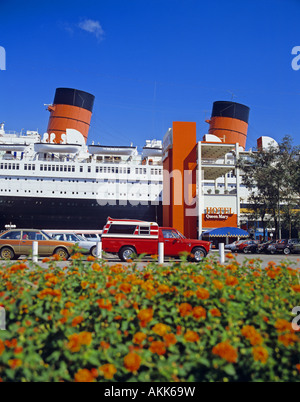 RMS Queen Mary Long Beach California United States - Stock Photo