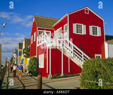... Red Painted House Marina Del Rey Los Angeles California United States    Stock Photo