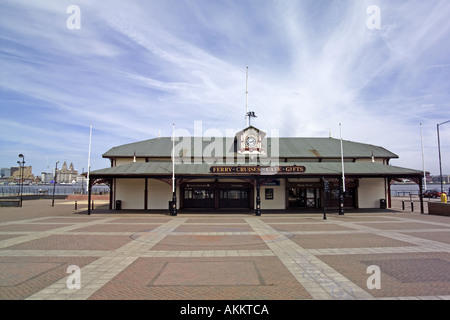 Woodside Ferry Terminal Building Birkenhead Merseyside Wirral UK England liverpool - Stock Photo