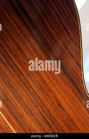 Polished wood guitar body - Stock Photo