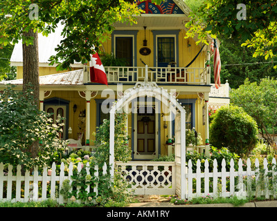 Canada Ontario Grimsby Grimsby Park Ford Cottage built 1887 Victorian style home one of the original Chautauqua - Stock Photo