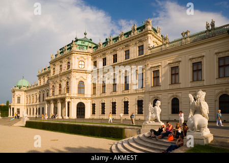 View along Schloss Belvedere Vienna Austria - Stock Photo