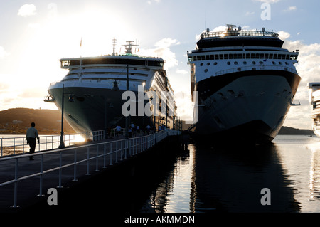 Antigua and Barbuda, Antigua island, cruise ship in Saint John's capital city - Stock Photo