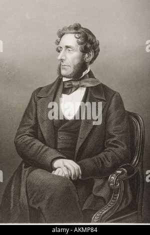 Anthony Ashley Cooper, 7th Earl of Shaftesbury, aka Lord Ashley,1801 - 1885.   British politician, philanthropist - Stock Photo