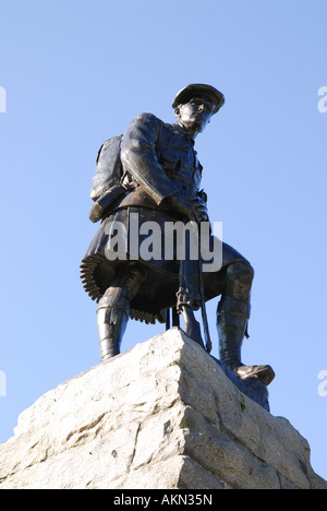 51st Highland Division Memorial, Beaumont-Hamel Newfoundland Memorial Park, Somme, France - Stock Photo