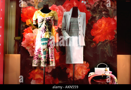 Paris France, Shopping, Luxury SHops, 'Christian Lacroix' Fashion Designer Shop Window Boutique, mode labels - Stock Photo