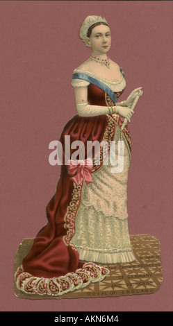 Chromolithographed die cut scrap of 'Vicky', Princess Royal, Crown Princess of Germany (1840-1901) circa 1880 - Stock Photo