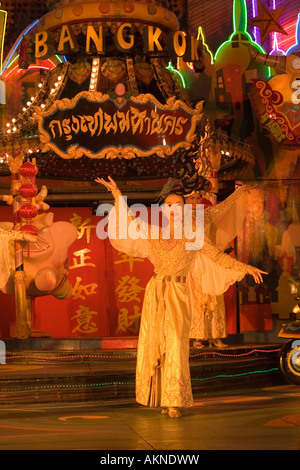Live performance Festival Village Phuket Fantasea Nighttime Cultural Theme Park Kamala Beach Phuket Thailand - Stock Photo