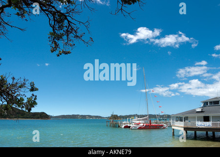 Waterfront at Paihia, Bay of Islands, Northland, North Island, New Zealand - Stock Photo