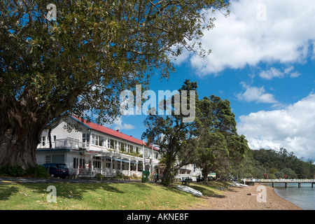 Duke of Marlborough Hotel, Russell, Bay of Islands, Northland, North Island, New Zealand - Stock Photo