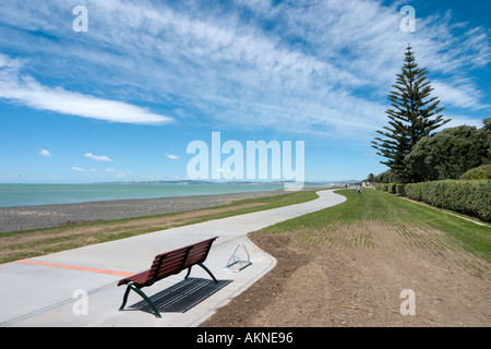 Seafront at Napier, North Island, New Zealand - Stock Photo